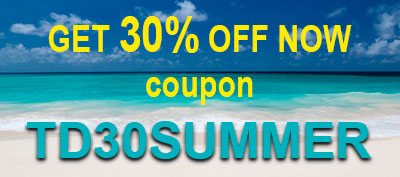 Get NOW a 30% discount using coupon TD30SUMMER