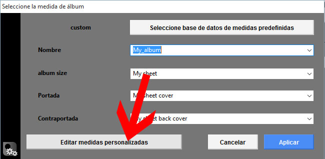 Editar medidas personalizadas